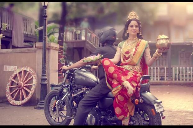 In the film, Kangana Ranaut plays the role of Goddess Lakshmi. The public service advertisement taps into the belief that Lakshmi, the goddess of wealth and prosperity, only resides in a clean environment.