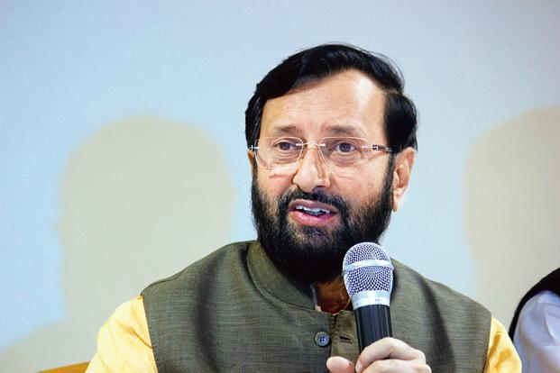 Prakash Javadekar says the new education policy will be raised on the foundations of quantity, quality, equity, accountability and research and innovation. Photo: Hindustan Times)