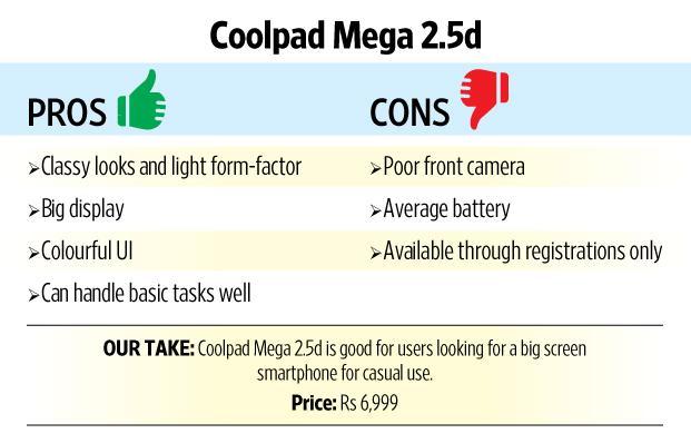 Review: Coolpad Mega 2.5d is a big screen phone on a budget - Livemint