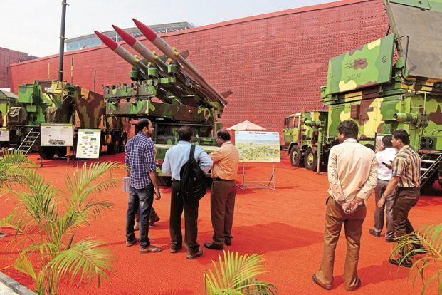 In an effort to make it easy for the private sector to participate in the Make in India programme, the government has given licences to many private companies to manufacture products for the country's defence needs. Photo: Abhijit Bhatlekar/Mint