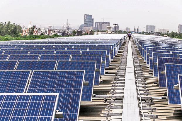 In 2015-16, India added more than 3GW of solar capacity, compared to 3.3GW of wind energy. But the trend could reverse as the cause of solar energy has been helped by a sharp fall in equipment costs. Photo: Bloomberg