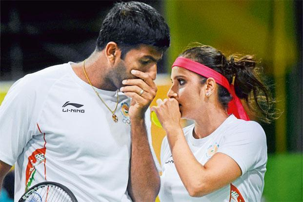 Sania Mirza and Rohan Bopanna lost in the bronze play-off. Photo: Atul Yadav/PTI