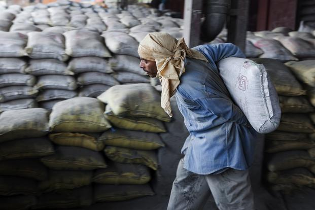 India Cements said production grew 10% during the June quarter, with a capacity utilisation of 65%. Photo: Bloomberg