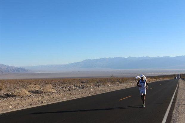 Sharma during the Badwater 135—one of the toughest ultra marathons in the world—in California. Photos: Courtesy Breeze Sharma