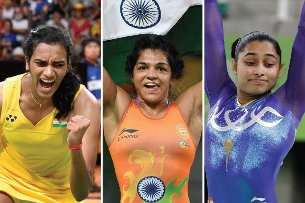 "Shuttler P.V. Sindhu, wrestler Sakshi Malik and gymnast Dipa Karmakar. A country where a majority of families still berate women for wanting to be ""like men"" and find ways to domesticate or subdue them when they indeed become so, is celebrating womanhood and girl power."