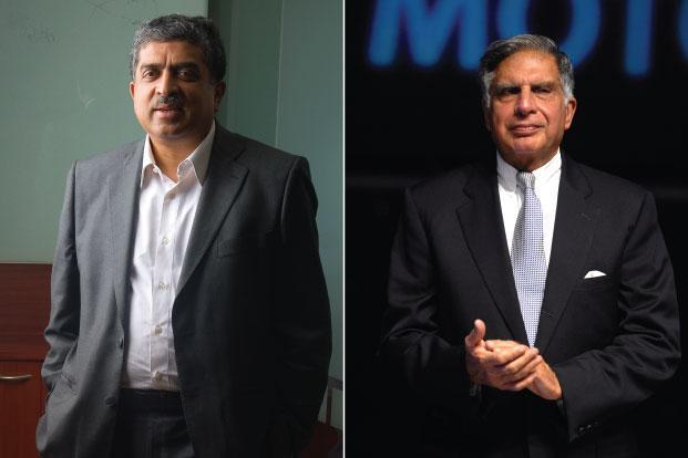 Ratan Tata and Nanadan Nilekani. Avanti will apply to the Reserve Bank of India for registration and is expected to start operations before the end of the financial year. Photo: Mint