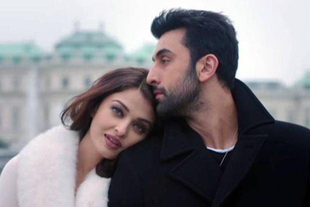 Actors Aishwarya Rai Bachchan and Ranbir Kapoor in a still from Karan Johar's upcoming Diwali release 'Ae Dil Hai Mushkil'.