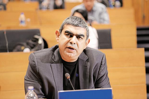 CEO Vishal Sikka is betting on projects in disruptive technologies to transform Infosys into a $20 billion behemoth by 2021. Photo: Hemant Mishra/Mint