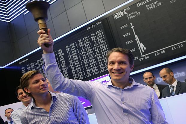 Rocket Internet was founded in 2007, but its chief executive, Oliver Samwer (right), had early success in cloning an Internet business and selling it to the original. Photo: Getty Images