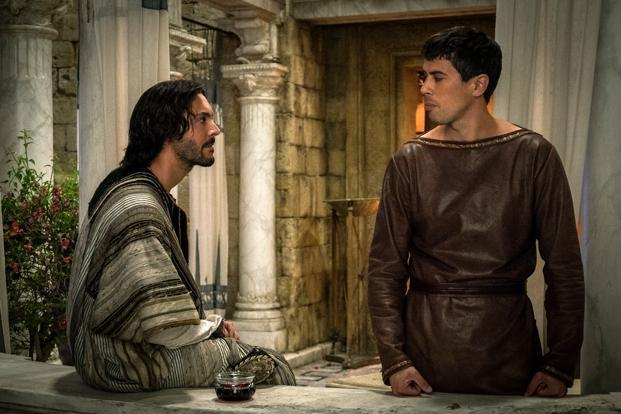 This image released by Paramount Pictures shows Jack Huston as Judah Ben-Hur, left, and Toby Kebbell as Messala Severus in a scene from Ben-Hur. Losses on Ben Hur will be close to $75 million, compared with the $121.7 million forecast by The Numbers. Photo: AP