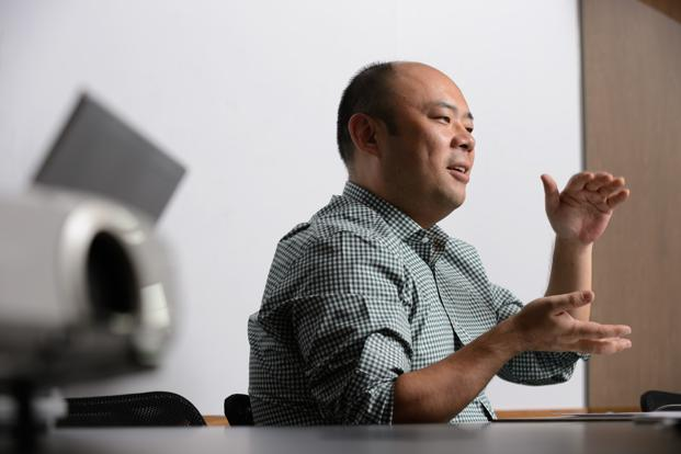 Taizo Son, chief executive officer of Mitletoe Inc. Photo: Bloomberg