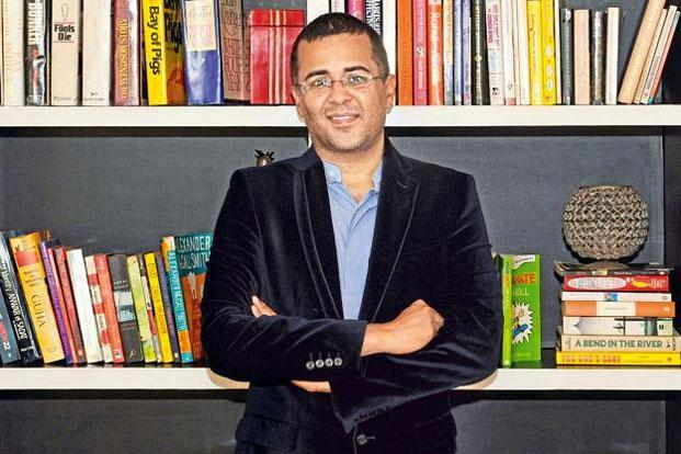 Chetan Bhagat's new book broke the record for pre-order sales on Amazon India within a few hours. Photo: Indranil Mukherjee/AFP
