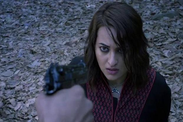 Sonakshi Sinha in a still of action drama 'Akira'.