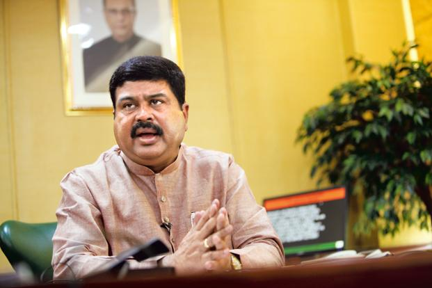 A file photo of oil minister Dharmendra Pradhan. Photo: Mint