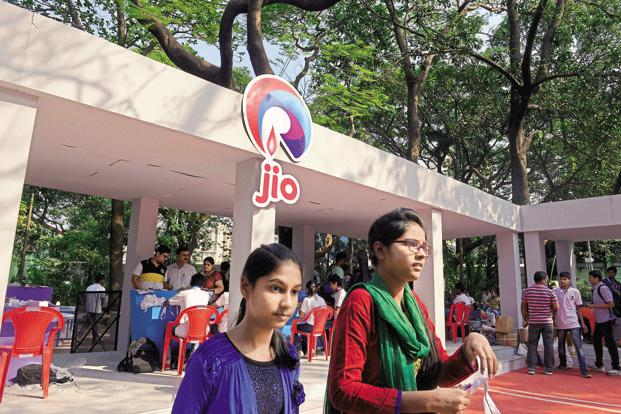 Reliance Jio is targeting 10 crore subscribers in shortest possible time, RIL chairman Mukesh Ambani said on Thursday while unveiling the 4G service.  Photo: Abhijit Bhatlekar/ Mint