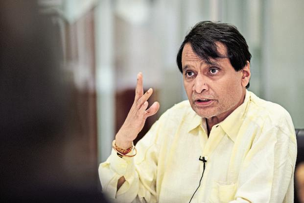 File photo. Suresh Prabhu said pension funds are keen to put money in the railways as it is a long-term investment destination for them with assured long term returns and capital safety assurance. Photo: Priyanka Parashar/Mint