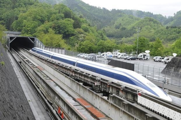 A file photo of a Maglev train in Japan. Photo: AFP