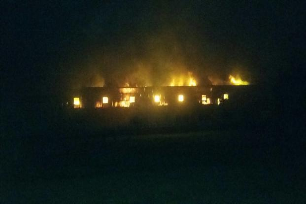 Initial reports suggest that there were no casualties, but the fire is said to have gutted the factory. Photo: Mint