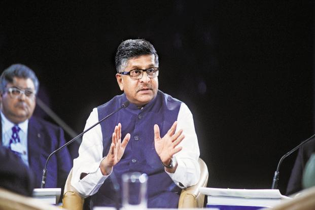 A file photo of information and technology minister Ravi Shankar Prasad. Photo:Ramesh Pathania/Mint