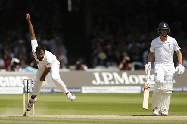 Wahab Riaz (left) has been key to Pakistan's rise. Photo: Reuters