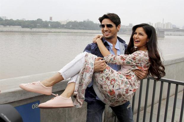 Sidharth Malhotra and Katrina Kaif in a still from 'Baar Baar Dekho'