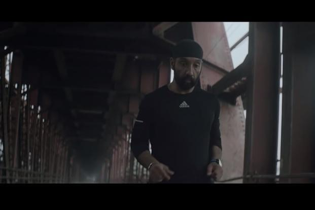 Major D.P. Singh in a still from the new Adidas ad. The film captures Major Singh's life and his passion for running.