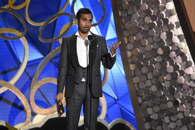 Master of None star Aziz Ansari quipped: 'I'm recommending that we get rid of all Muslim and Mexican people from the ceremony.' Photo: AP