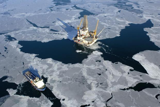 A company handout picture shows the oil production platform at the Sakhalin-I field in Russia, partly owned by ONGC Videsh. Photo: Bloomberg/ONGC Videsh