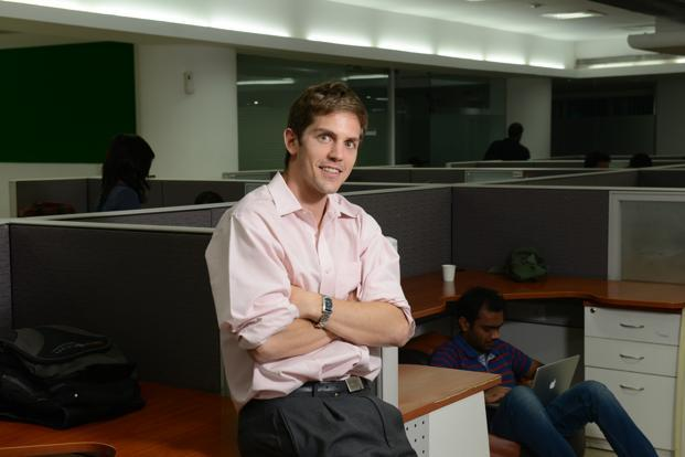 Zoomcar CEO Greg Moran founded the self-drive car rental start-up with David Back in Bengaluru. Photo: Hemant Mishra/Mint