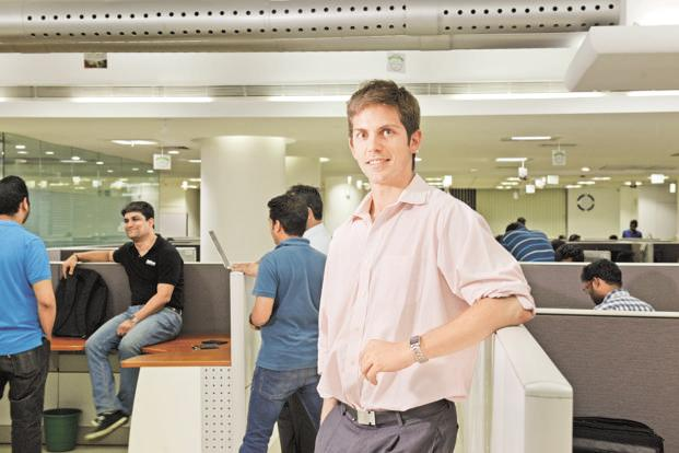 Greg Moran, co-founder and CEO, Zoomcar. As a 25-year-old investment banker in the US, Moran knew his first business venture would have to be in India. Photo: Hemant Mishra/Mint