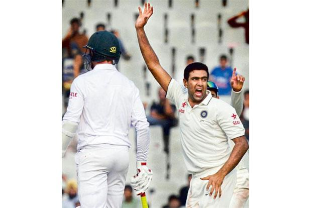 R. Ashwin during the India-South Africa Test series in Mohali in November. Photo: Gurpreet Singh/Hindustan Times