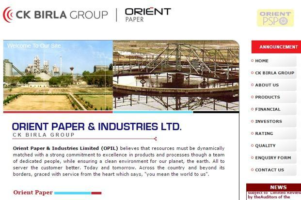 In July 2011, Orient Paper carved out its cement business as Orient Cement Ltd.