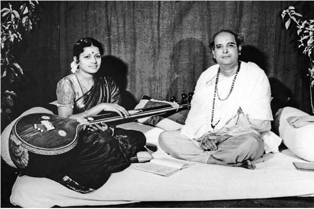 M.S. Subbulakshmi with Dilip Kumar Roy in 1948. Photos: Hindustan Times