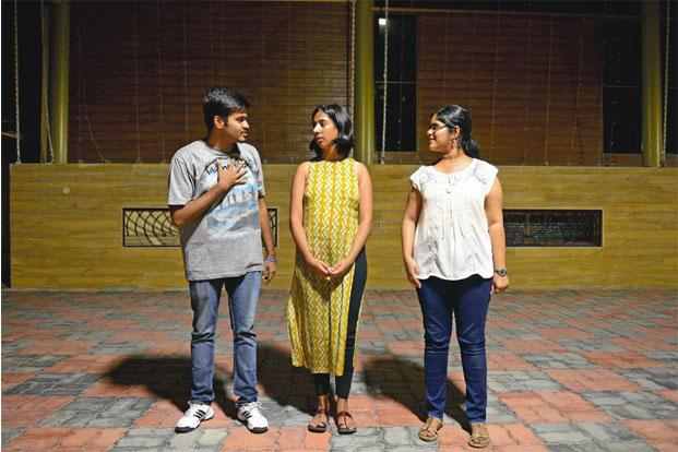 The St Stephen's College team rehearsing at the recent poetry slam in Bengaluru.