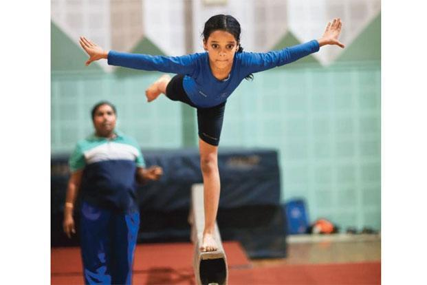 Girls as young as 6 have taken up gymnastics after Karmakar's Olympic performance. Photo: Kumar/Mint