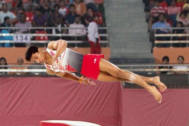 Ashish Kumar en route to his 2010 Commonwealth Games medal. Photo: Mohd Zakir/Hindustan Times