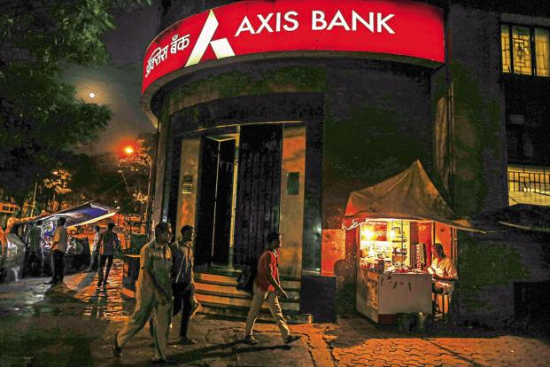 n Friday, Axis Bank closed at Rs557.40—a level last seen on 4 August, down 5.84%, the maximum fall since 10 October 2015. Photo: Bloomberg