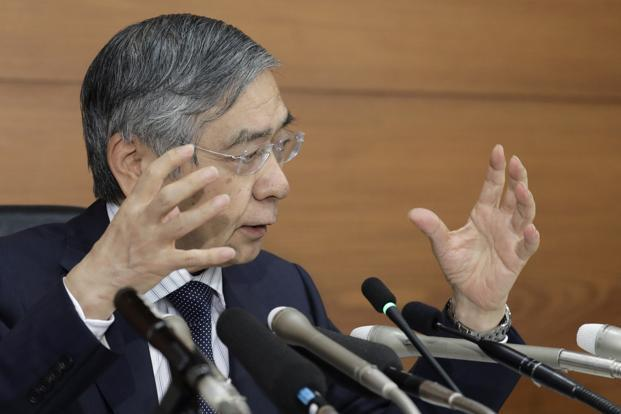 Bank of Japan governor Haruhiko Kuroda. Photo: Bloomberg