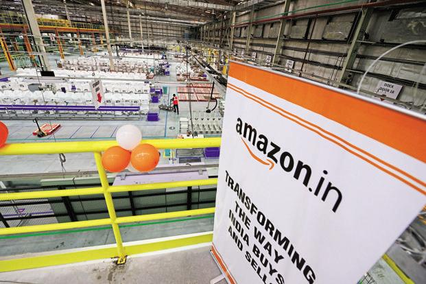 Spread over close to 70,000 square feet with over 100,000 cubic feet of storage space, the new FC will empower thousands of small and medium businesses to leverage the growth of digital economy and reach a wide customer base, Amazon.in said in a statement. Photo: Ramesh Pathania/Mint
