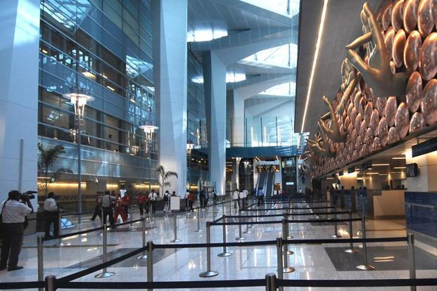The Airport Carbon Accreditation has upgraded Delhi's Indira Gandhi International Airport to highest, a level 3+ neutrality, level of certification. Photo: Pradeep Gaur/Mint