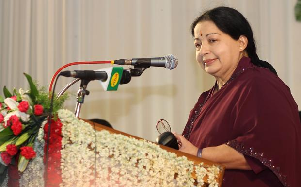 A file photo of Tamil Nadu chief minister J. Jayalalithaa. Photo: HT