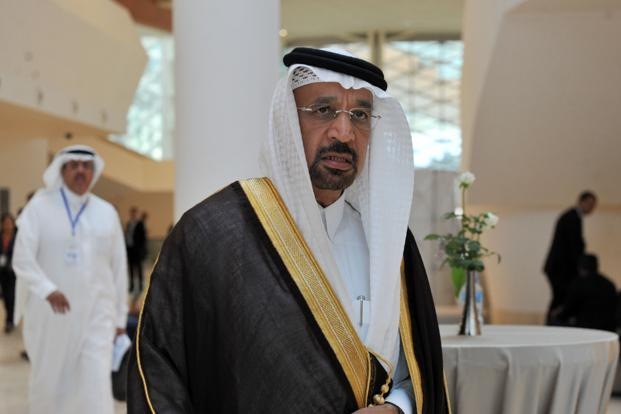 Saudi Arabia's oil minister Khalid Al-Falih at an informal meeting between members of the Opec in Algiers on 28 September. Photo: AFP