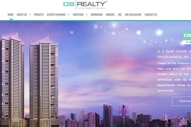 A screen grab of DB Realty's website.