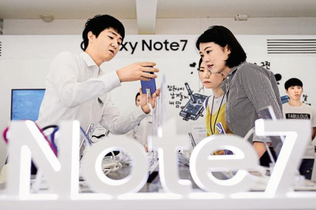 The Galaxy Note 7 recall wiped off $14.3 billion Samsung Electronics' market capitalization. Photo: Reuters