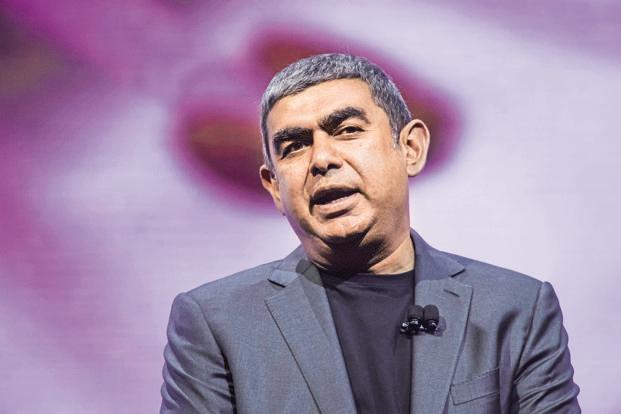 The decision to link Vishal Sikka's salary to Infosys's long-term market capitalization target means that the IT firm is putting its skin in the game. Photo: Bloomberg