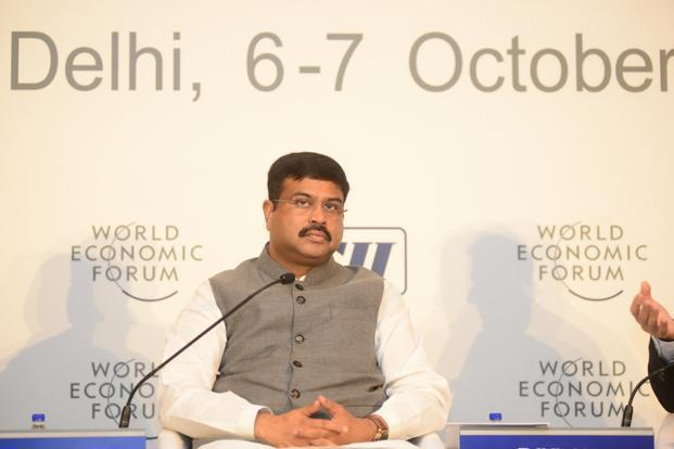 Dharmendra Pradhan said govt was making policy changes to stimulate investment, assure returns, establish free-market mechanisms and introduce certainty in the energy sector. Photo: Ramesh Pathania/Mint