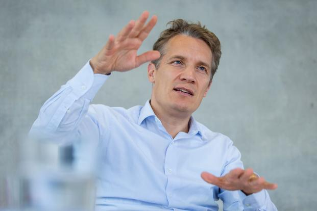 Oliver Samwer, chief executive officer of Rocket Internet SE, during an interview at the company's new headquarters in Berlin, Germany. Photo: Bloomberg