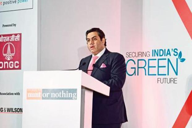 Chairman and managing director of Hero Future Energies Rahul Munjal at Mint's annual energy conclave. Photo: Pradeep Gaur/Mint