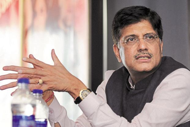 A file photo of Union minister for power Piyush Goyal. Photo: Sonu Mehta/HT