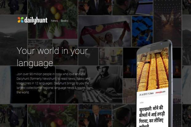 DailyHunt aggregates content from more than 175 publications in 12 languages, sells e-books in 10 languages amid expanding its offerings beyond India.